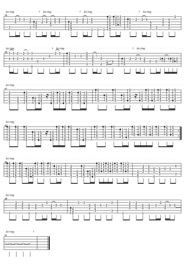 周杰伦《晴天》吉他指弹谱-3