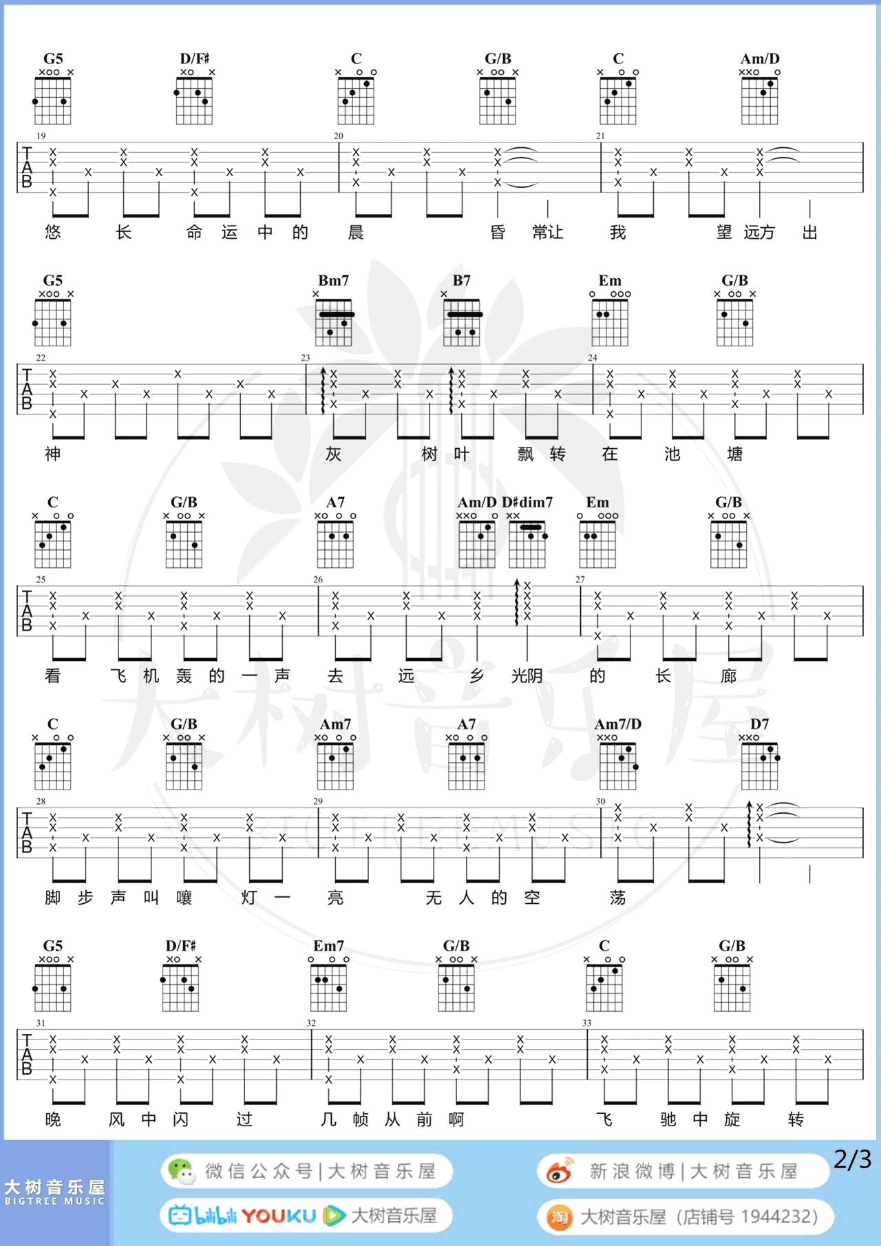 莫文蔚-这世界那么多人吉他谱 弹唱教学-2