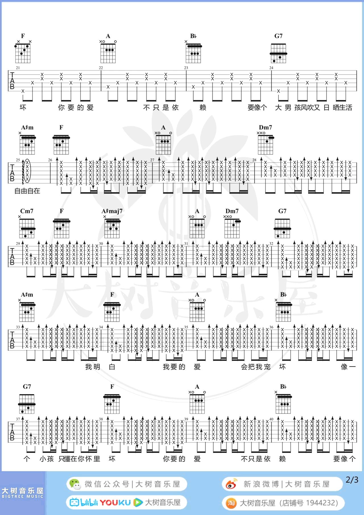 戴佩妮-你要的爱吉他谱-弹唱教学-2