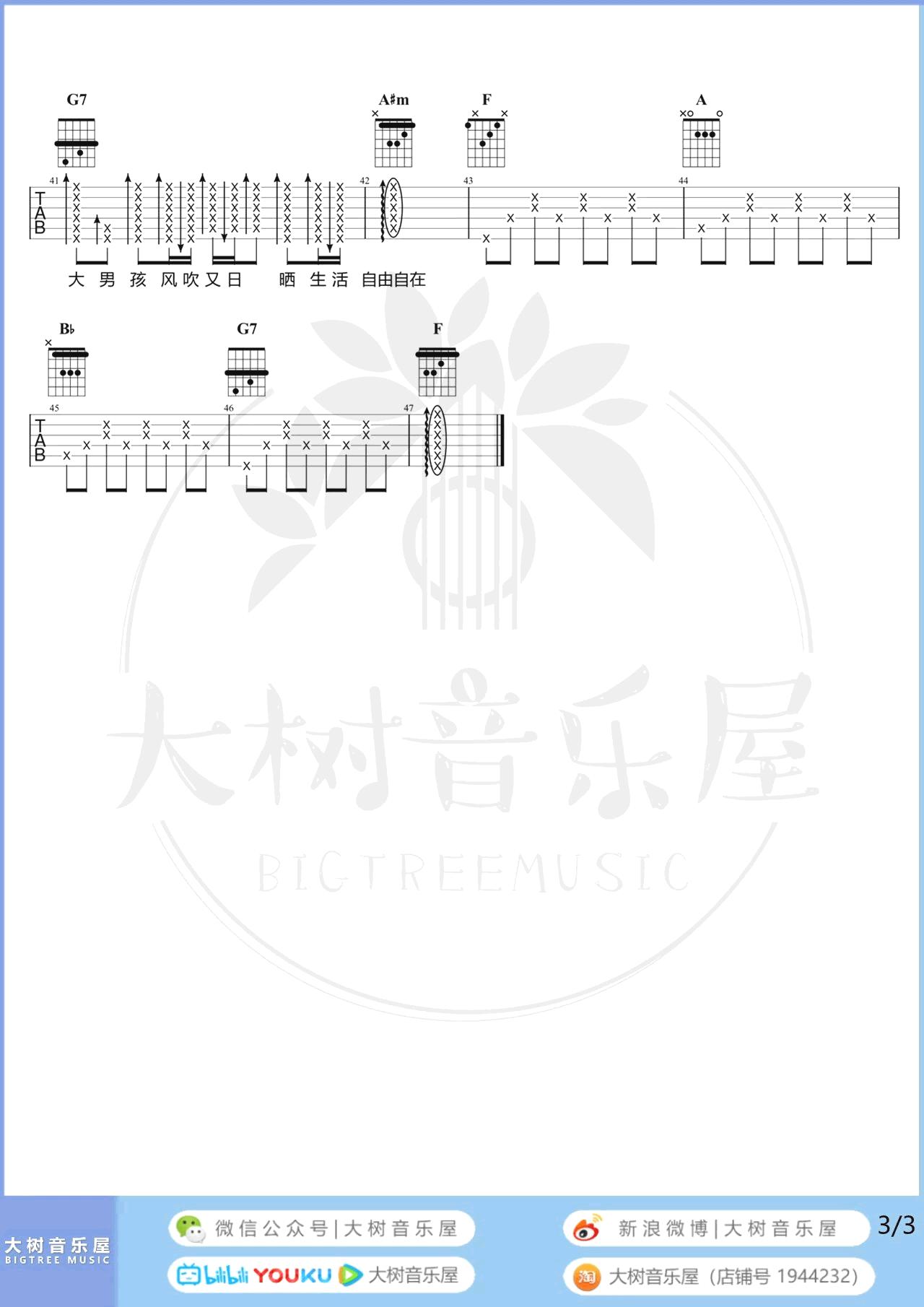 戴佩妮-你要的爱吉他谱-弹唱教学-3