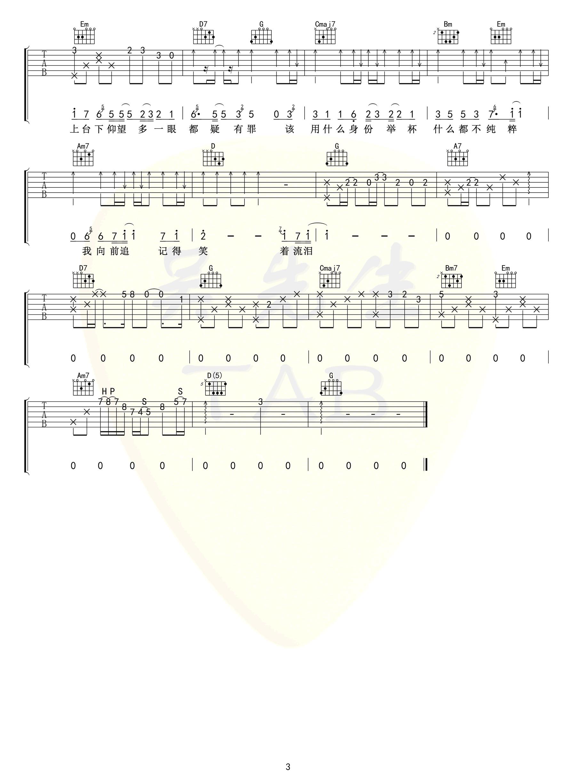 陈亦洺-鼎沸吉他谱-3