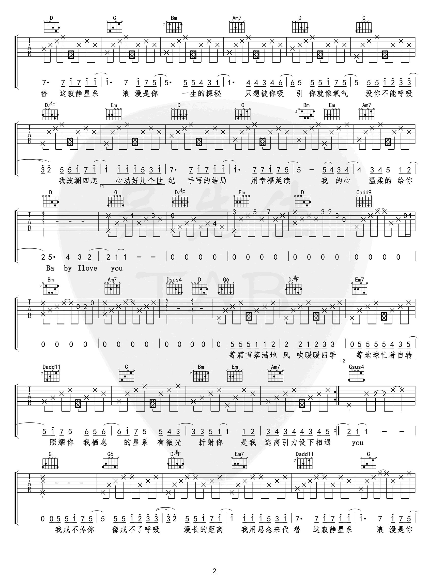 小蓝背心-目及皆是你吉他谱-2