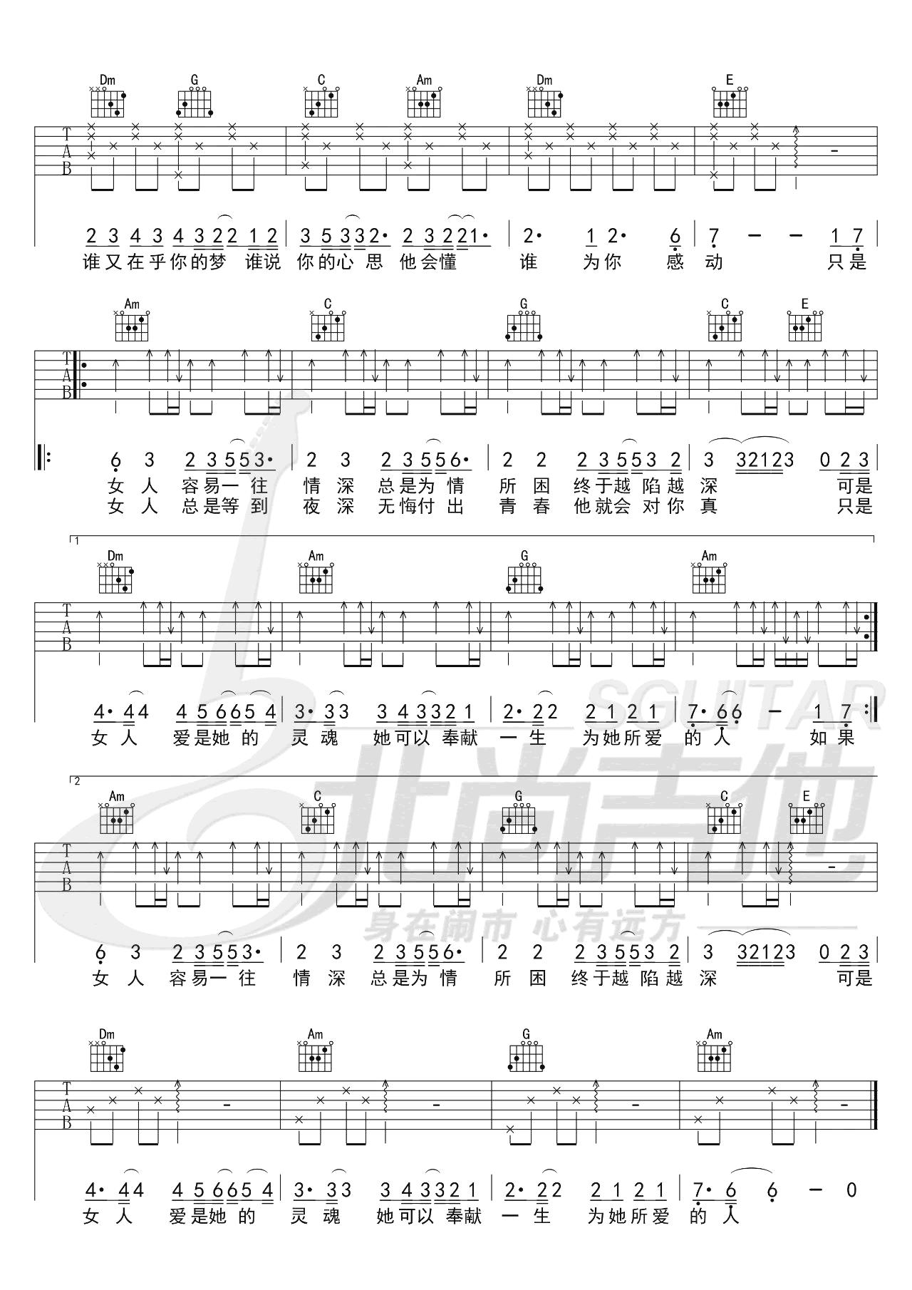 陈淑桦《问》吉他谱-弹唱教学-2