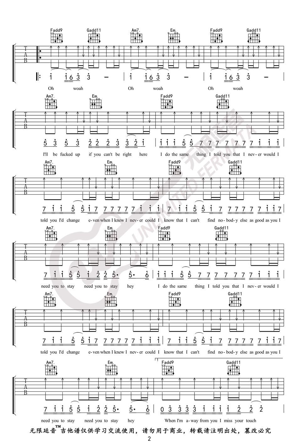 STAY吉他谱-The Kid LAROI/Justin Biber-2