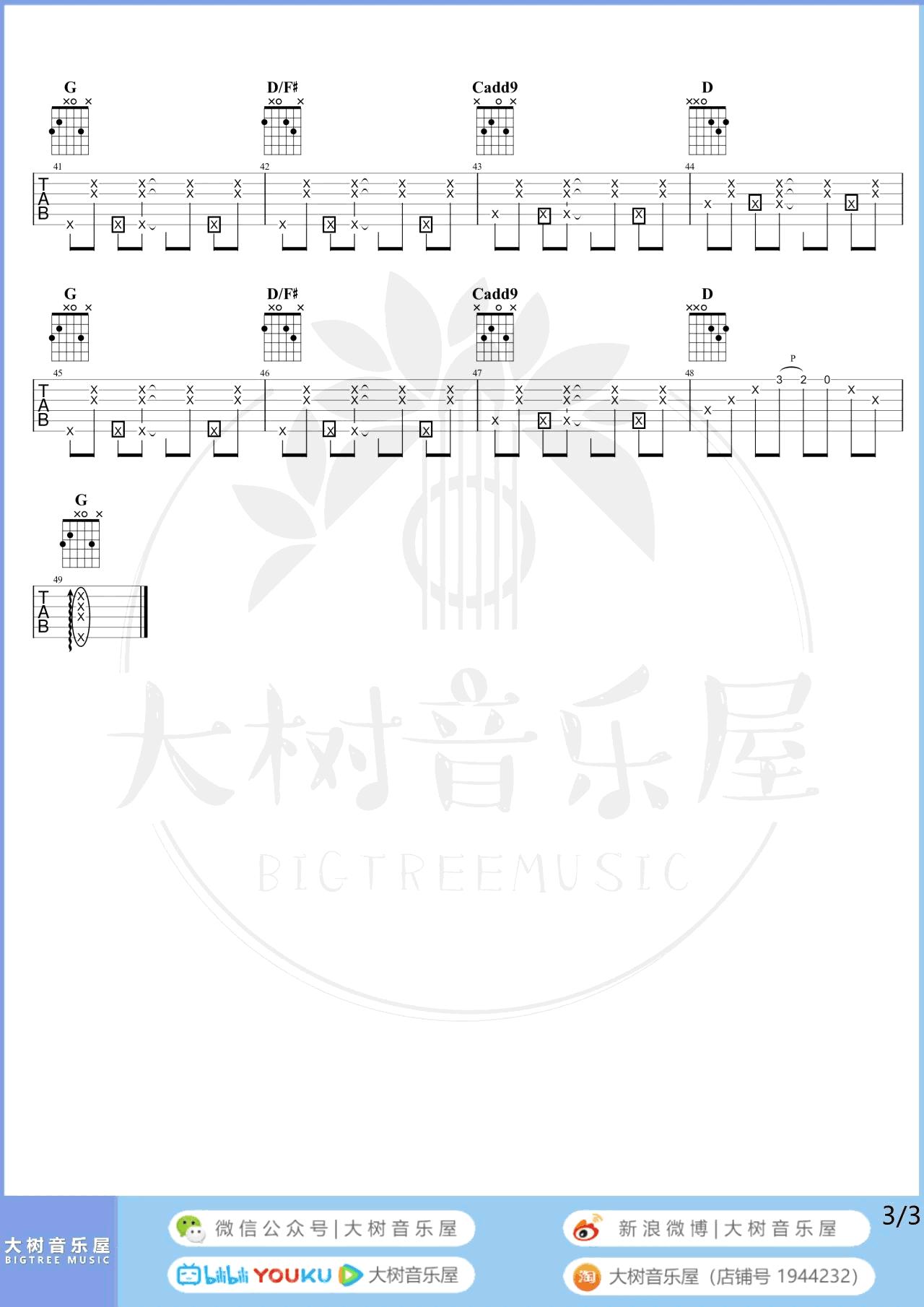 梁心颐《靠近一点点》吉他谱-弹唱教学-3