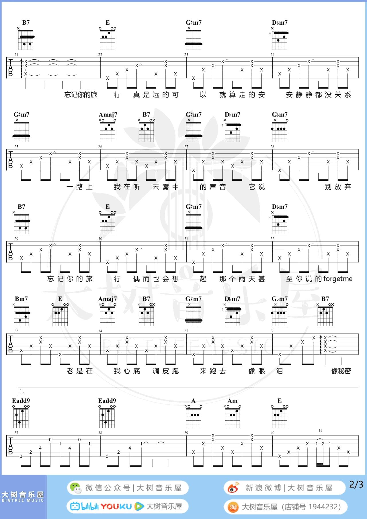 袁娅维-旅行中忘记吉他谱-弹唱教学-2
