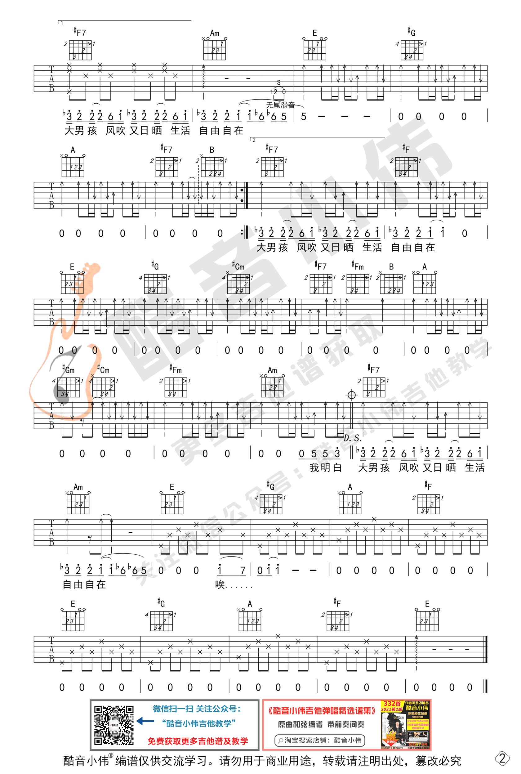 戴佩妮《你要的爱》吉他谱-弹唱教学-2