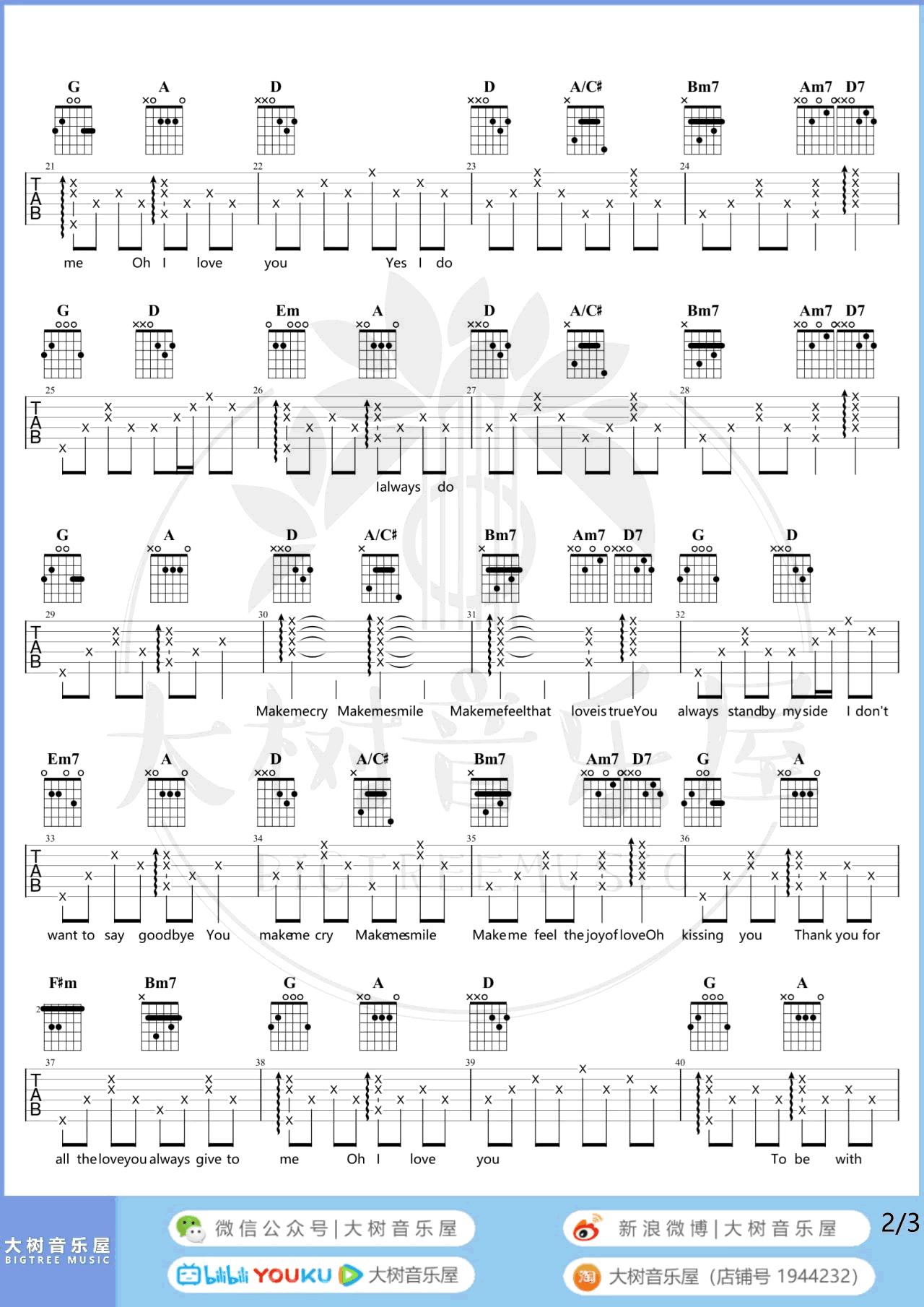 冯曦妤-A Little Love吉他谱-弹唱教学-2